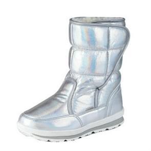 Wool Warm Inside Parent-child Shoes Snow Boots, Size:34(Sliver)