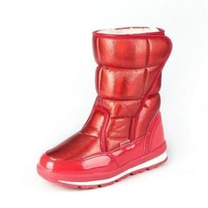 Wol warm binnen ouder-kind schoenen sneeuw laarzen  grootte: 35 (rood)