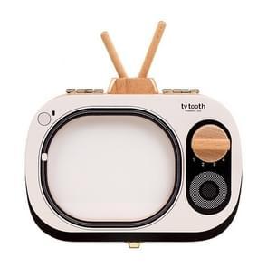 Niet giftig houten draagbare baby tanden vak souvenirs collectie aankondigingen TV-vormige Kids gift Save organisator (wit)
