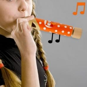 Wooden Children Pull Whistling Solid Wood Flute Children Music Toys, Random Color Delivery