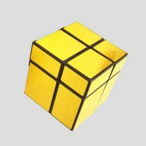 Mirror Second-order Entry-level Shaped Cube Speed Challenge Gift Intelligent Early Education Toy (Gold)