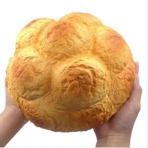 Grote geurende cream puff squishy slow rising bandjes zachte squeeze simuleren Pineapple Bread Cake Gift Kid Fun Speelgoed Grootte: 25x13cm (Bruin)
