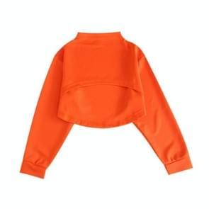 Children Hip Hop Street Dance Costumes Catwalk Jazz Dance Costumes(Orange Top)