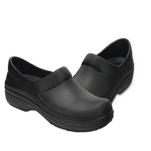 Chef Shoes Non-slip Kitchen Shoes Canteen Chef Cleaning Work Shoes Hotel Work Shoes, Size:37(Black)