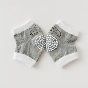 Babys Non-slip Kneecap Cotton Knee Pad Baby Crawling Knee Pads(Gray)