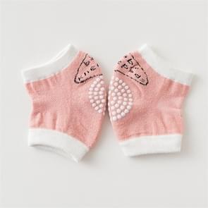 Babys Non-slip Kneecap Cotton Knee Pad Baby Crawling Knee Pads(Pink)