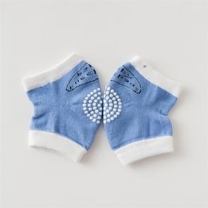 Babys Non-slip Kneecap Cotton Knee Pad Baby Crawling Knee Pads(Blue)