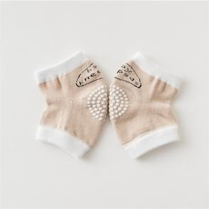Babys Non-slip Kneecap Cotton Knee Pad Baby Crawling Knee Pads(Khaki)