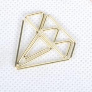 20 PCS Creative School Office Paper Clip Diamond Cute Paper Clip(Gold)