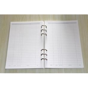 10 stuks notebook ring gesp 3 hole ring opknoping accessoires 3-hole zilveren gesp