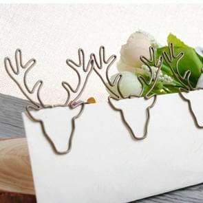 8 PCS/Set Deer Head Paper Clip Shaped Paper Clip Creative Shape Pin Bookmark