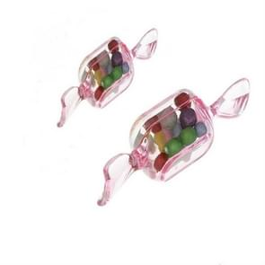 10 PCS/Set Transparent Creative Candy Box Small Candy-shaped Mini Plastic Box(Clear Pink)