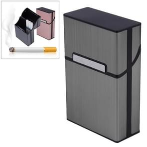 Aluminum Cigar Cigarette Case Tobacco Holder Pocket Box Storage Container Smoking Set(Gray)