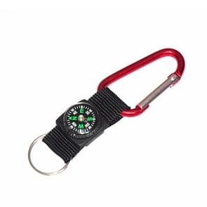 5 PCS Outdoor Aluminum Alloy Mini Practical Carabiner with Compass & Key Ring, Random Color Delivery