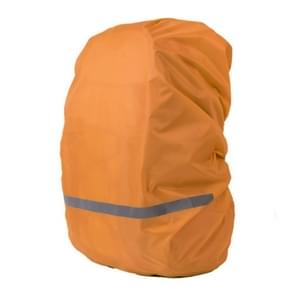 Reflective Light Waterproof Dustproof Backpack Rain Cover Portable Ultralight Shoulder Bag Protect Cover, Size:S(Orange)