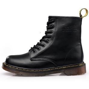 Martin Boots Plus Velvet Couple Tooling Boots, Size:40(Black)