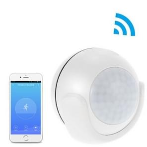 Smart Home WiFi PIR Motion Sensor Mobile APP Security Infrarood Alarm (Wit)