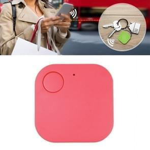 Portable Mini Square Anti Lost Device Smart Bluetooth Remote Anti Theft Keychain Alarm (Roze)