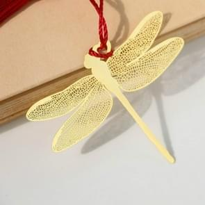 Brass Dragonfly Classical Metal Bookmark Office Accessories School Supplies(Gold)