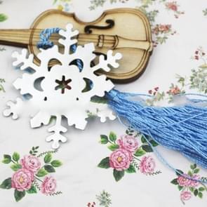 2 Pcs Wedding Small Gifts Practical Metal PVC Transparent Tassel Snowflake Bookmarks