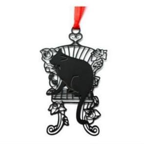 2 PCS Cartoon Envelope Sealing Sign Black Cat Metal Series Hollow Mini Bookmark(Casual Cat)