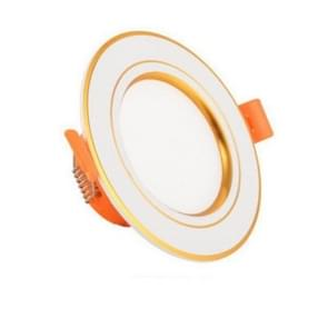 LED Embedded Simple Lamp Ceiling Small Household 3w Spotlight Ceiling Hole Lamp Living Room Bucket, Color:Gold-White, Power:3W