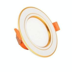LED Embedded Simple Lamp Ceiling Small Household 3w Spotlight Ceiling Hole Lamp Living Room Bucket, Color:Gold-warm Light, Power:3W