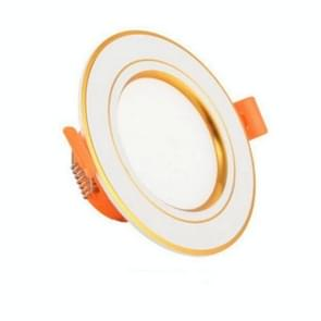 LED Embedded Simple Lamp Ceiling Small Household 3w Spotlight Ceiling Hole Lamp Living Room Bucket, Color:Gold-Light, Power:3W