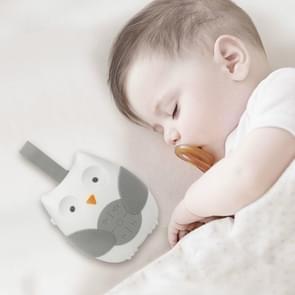 Baby bed opknoping Bell geluid rustgevende slaap zachte uil muziekdoos Toy (wit)