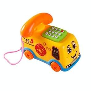 Kinderen Educatieve Vroege Kindertijd Speelgoed Bus Telefoon met Muziek Lichten  Random Color Delivery
