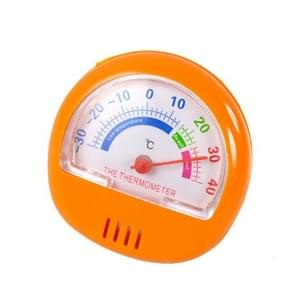 2 PCS Freezer Thermometer Indoor Outdoor Pointer Thermometer(Oranje)
