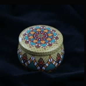 Mini Gift Sieraden Tin Box Cookie Candy Thee Opslag Ronde Drum Tinplate Box Lade Organizer (Stijl A)