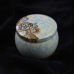 Mini Gift Sieraden Tin Box Cookie Candy Thee Opslag Ronde Drum Tinplate Box Lade Organizer (Stijl C)