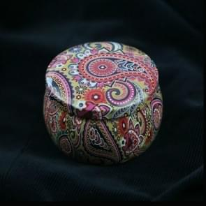 Mini Gift Jewelry Tin Box Cookie Candy Tea Storage Round Drum Tinplate Box Drawer Organizer(Style F)
