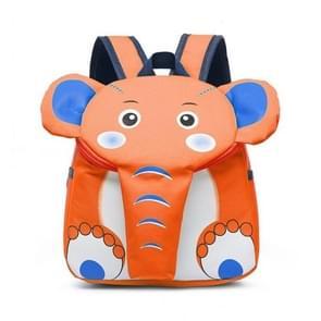 Olifant school rugzak voor kinderen schattig 3D dier Kids school tassen jongens meisjes schooltas (oranje)