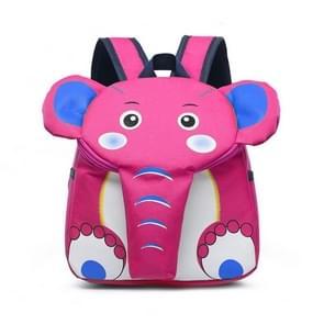 Olifant school rugzak voor kinderen schattig 3D dier Kids school tassen jongens meisjes schooltas (roze)