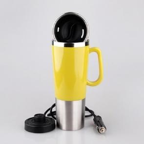 Elektrische water geïsoleerde auto mok reizen verwarming Cup waterkoker  capaciteit: 450ML  spanning: 12V (geel)