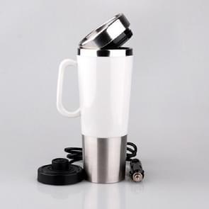 Elektrisch Water Geïsoleerde Auto Mug Travel Heating Cup Ketel  Capaciteit: 450ML  Voltage:12V(Wit)