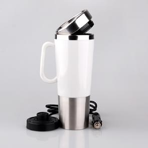 Elektrisch Water Geïsoleerde Auto Mug Travel Heating Cup Ketel  Capaciteit: 450ML  Voltage:24V(Wit)
