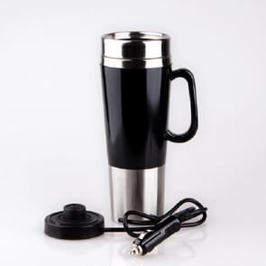 Elektrische water geïsoleerde auto mok reizen verwarming Cup waterkoker  capaciteit: 450ML  spanning: 24V (zwart)