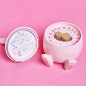 Baby tand vak cute Rabbit baby navel gordel haar souvenir fles (roze konijn)