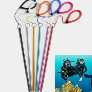 Aluminum Alloy Diving Tinker Stick Calibrated Wnderwater Probe Bar with Hand Rope(Random Color Delivery)