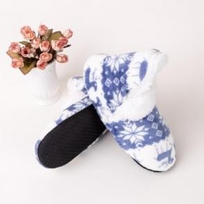 Christmas Deer Boots Soft Bottom Floor Shoes Indoor Anti-slip Socks, Size:One Size(Sky Blue)
