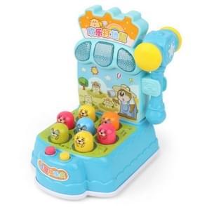 Vroege kindertijd onderwijs puzzel licht muziek spel machine vreugde spelen hamster ouder-kind interactief speelgoed (blauw)
