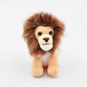 Cute Long-haired Little Lion King Plush Toy Backpack Key Ring Pendant Doll, Size:10cm(Skin Color )