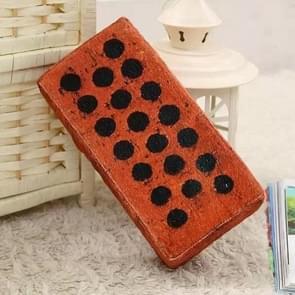 Creatieve pluche speelgoed simulatie pop rode bakstenen slapen kussen vent tool Board baksteen  grootte: 24 * 12 * 6CM (holle baksteen)