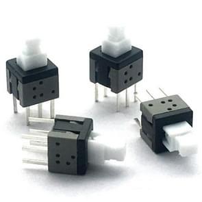 10 STKS blauw wit zwart sleutelschakelaar Zelfvergrendelende schakelaar  specificatie: 5.8 x 5.8 mm