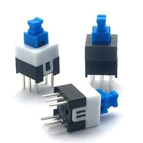 10 stuks blauw wit zwart sleutelschakelaar Zelfvergrendelende schakelaar  specificatie: 7x7mm
