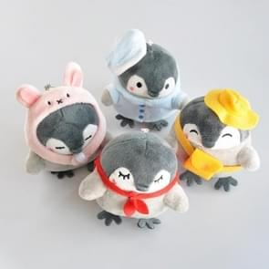 Schattige pinguïn pluche speelgoed sleutelhanger rugzak hanger Boutique pop (gemengde kleur levering)