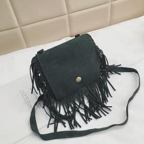 Mini Messenger Bag Cute Tassel Design Kids Coin Purses Children Handbags Shoulder Bags(Light Green)
